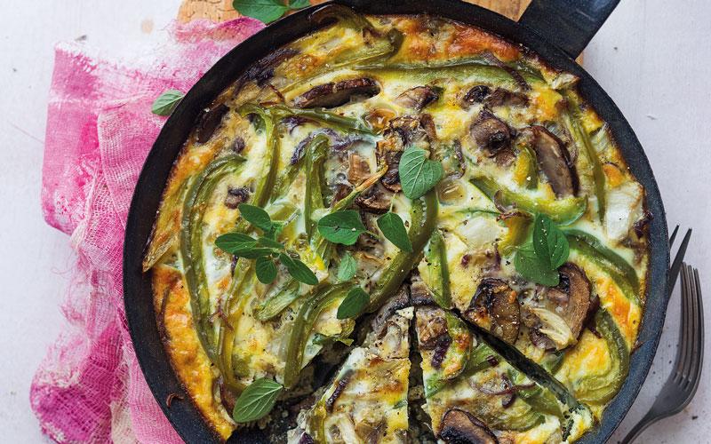 Mediterrane Frittata mit viel Gemüse